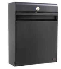 Allux Holscher sort postkasse med lås