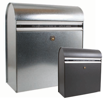 Allux KS 200 postkasse med rundt lokk