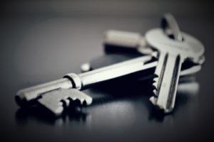 Nærbilde av et nøkkelknippe