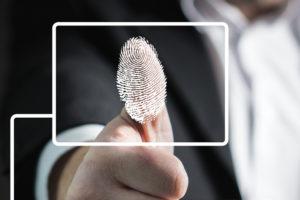 Fingeravtrykket til en tommel