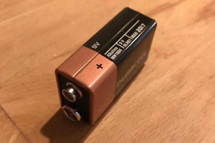 Et 9V batteri